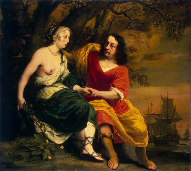 Bacchus and Ariadne, 1664 - Фердинанд Боль