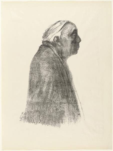 Self-Portrait in Profile Toward Right, 1938 - Käthe Kollwitz