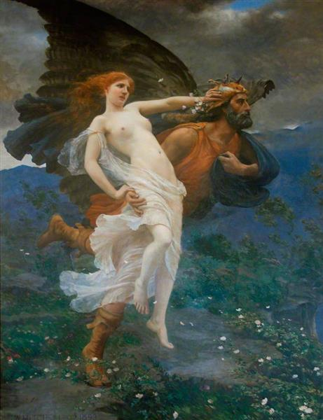 The Flight of Boreas with Oreithyia, 1893 - Charles William Mitchell