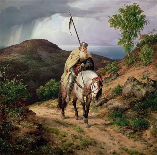 The Return of the Crusader, 1835 - Karl Lessing