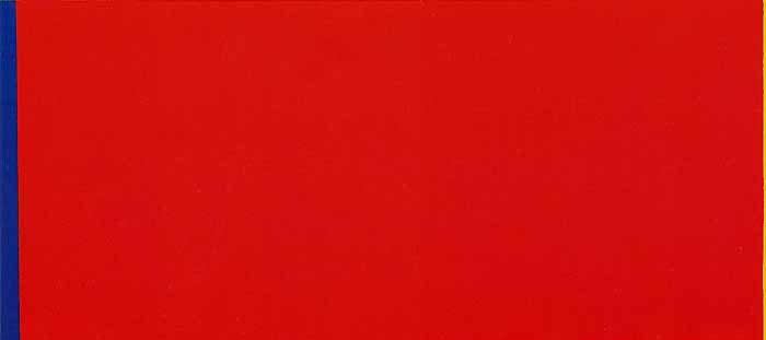 Who's Afraid of Red, Yellow, and Blue III, 1969 - 1970 - Barnett Newman