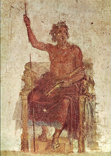 Painting of Alexander as Zeus, based on an original by Apelles - Apelles