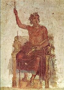 Painting of Alexander as Zeus, based on an original by Apelles - Apelles