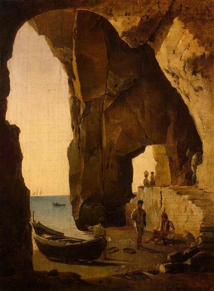Cave in Sorrento, 1826 - Sylvester Shchedrin