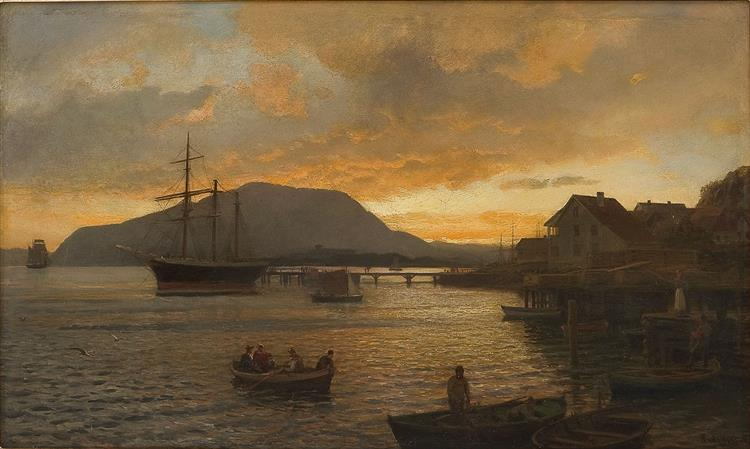 Sommernatt Ved Drøbak - Hans Gude