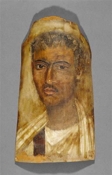 Mummy Portrait of a Young Man, 125 - Fayum portrait