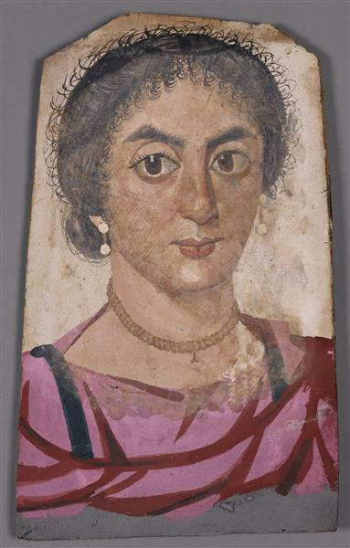 Mummy Portrait of a Young Woman - Fayum portrait