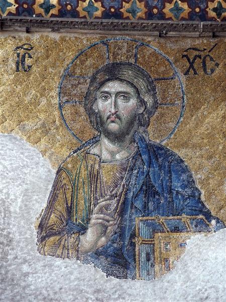 Christ Pantocrator, c.1261 - Byzantine Mosaics
