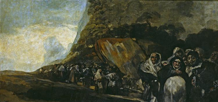 Pilgrimage to the Fountain of San Isidro / The Holy Office, 1820 - 1823 - Francisco Goya