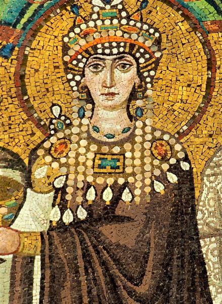 Mosaic of Theodora, c.547 - Byzantine Mosaics