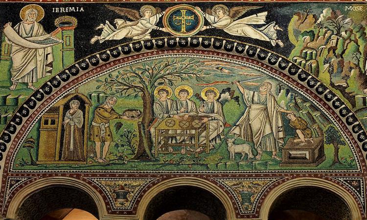 Sacrifice of Isaac, c.547 - Byzantine Mosaics