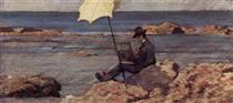 Nella Pittura Di  Riva Al Mare - Silvestro Lega