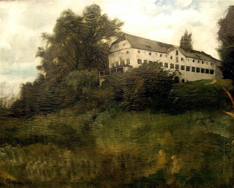 The Herreninsel Monastery at Chiemsee, 1874 - Вільгельм Трюбнер
