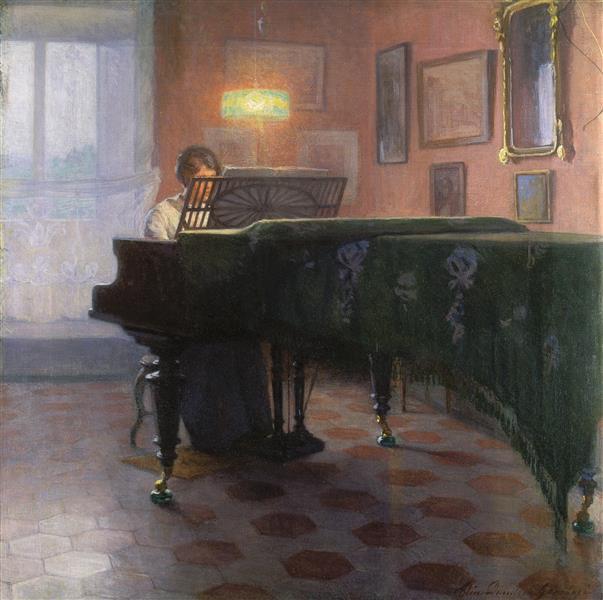 The Piano Player, 1907 - Danielson-Gambogi, Elin