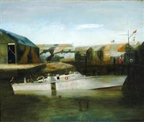 A Motor Boat of the British Power Boat Company, Hythe - Richard Eurich