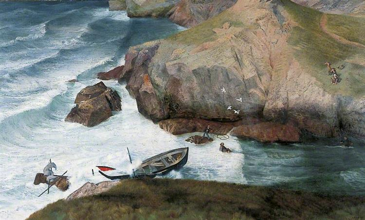 The Rescue of the Only Survivor of a Torpedoed Ship, 1941 - Richard Eurich