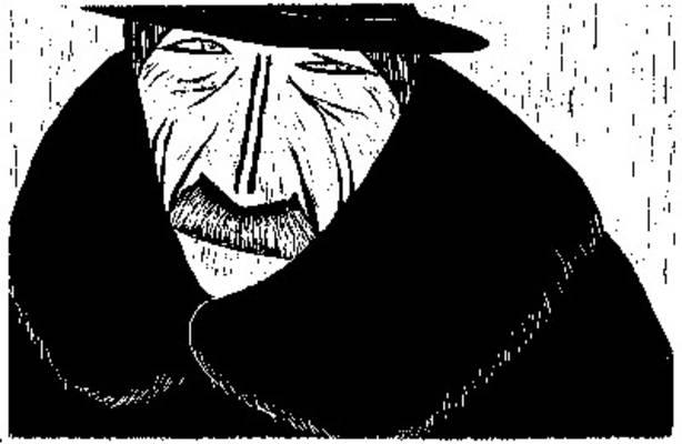Man with Fur Collar, 1967 - Werner Berg