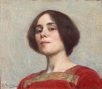 Self-portrait - Elin Danielson-Gambogi