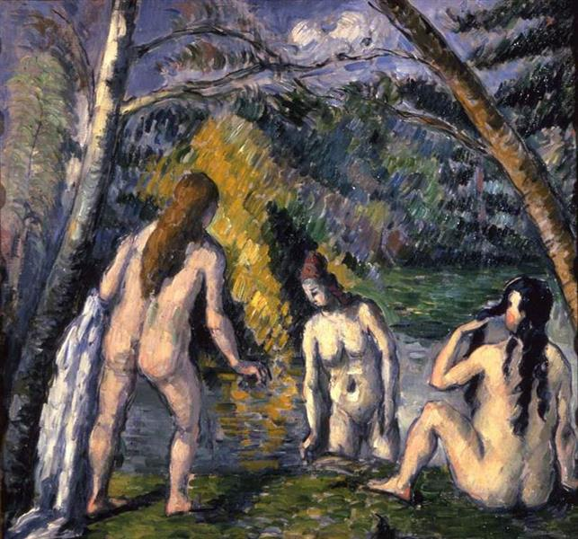 Three Bathers, 1879 - 1882 - Paul Cezanne