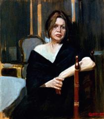 Woman in living room - Alejandro Cabeza