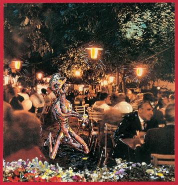 WIEN, HEURIGER IN GRINZING (EIN FÜHRER DURCH ÖSTERREICH FÜR AUSSERIRDISCHE WESEN NR.9), 1964 - 1965 - Christian Ludwig Attersee