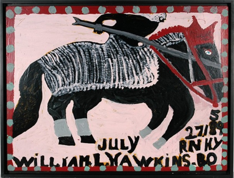 Rider On Horseback, 1988 - William Hawkins