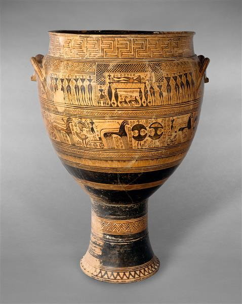Hirschfeld Krater, c.735 BC - Ancient Greek Pottery