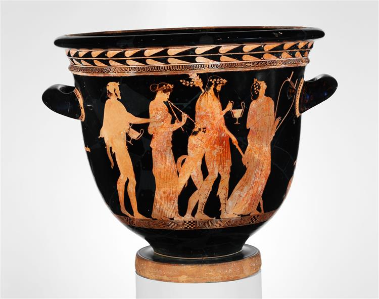Terracotta Bell Krater (bowl for Mixing Wine and Water), c.450 BC - Ancient Greek Pottery