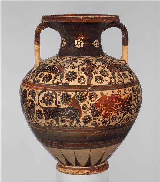Terracotta Neck Amphora (storage Jar), c.590 BC - Ancient Greek Pottery