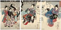 Divertimenti della prima nevicata - Utagawa Kuniyoshi