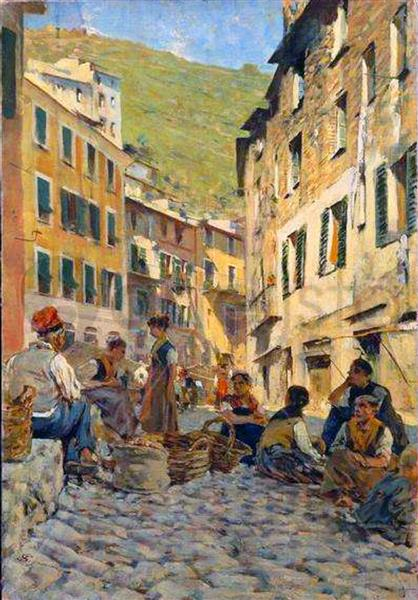 At rest in Riomaggiore, 1894 - Telemaco Signorini