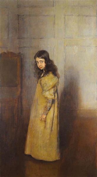 La Petite Fille En Jaune, 1893 - Antonio de La Gándara