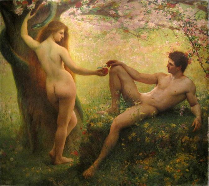 Adam Et Eve - Gustave-Claude-Etienne Courtois