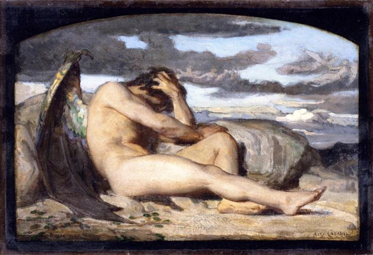 Study for 'Fallen Angel', c.1846 - Alexandre Cabanel