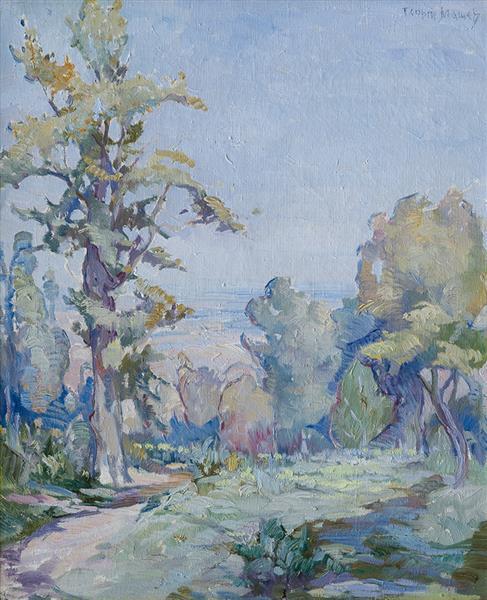 Spring Landscape, c.1920 - Georgi Mashev