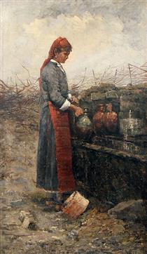 На чешмата - Ivan Mrkvička