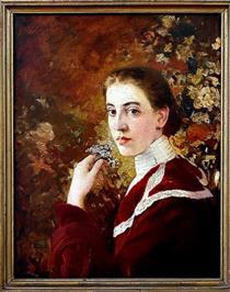Portrait of a Young Woman - Ivan Mrkvička