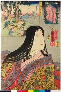 Volendo guardare la luna - Utagawa Kuniyoshi