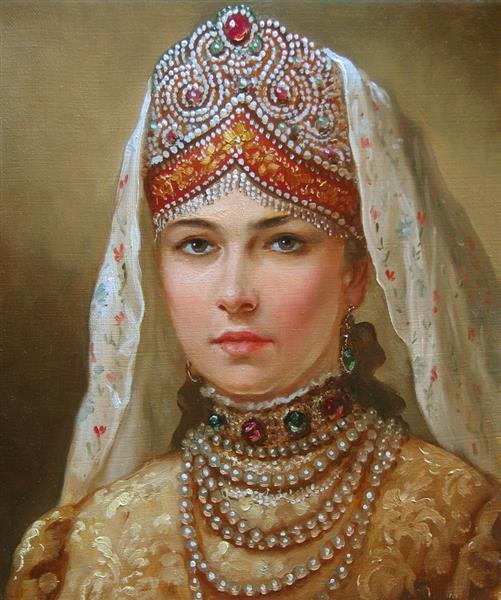 Девушка в русском наряде - Andrey Shishkin