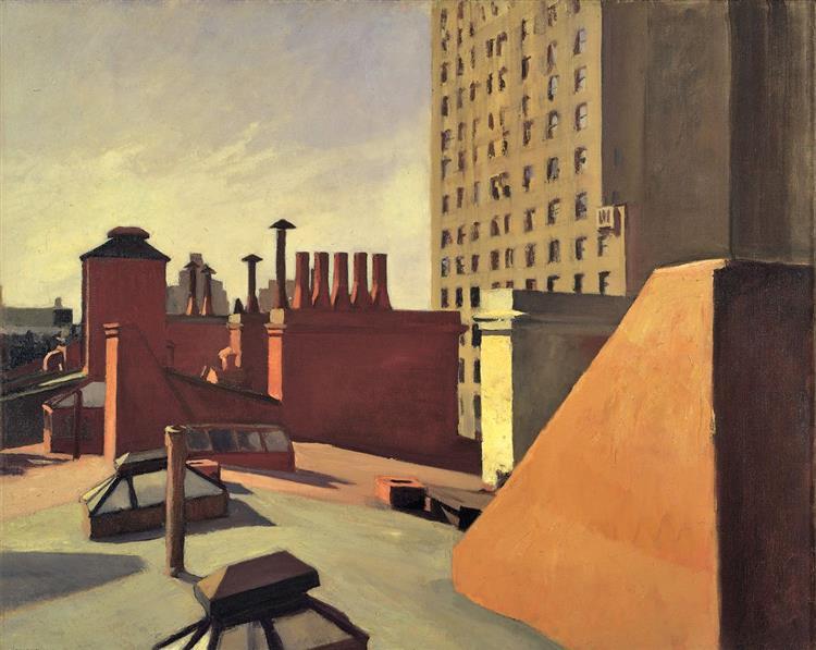 City Roofs, 1932 - Edward Hopper