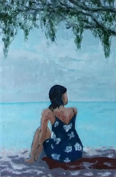 Woman on the Beach, 2019 - Sloba Pajkovic