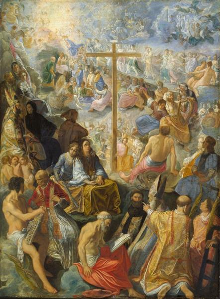 Glorification of the Cross - Adam Elsheimer