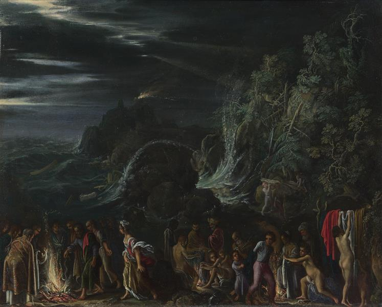 St Paul at Malta - Adam Elsheimer