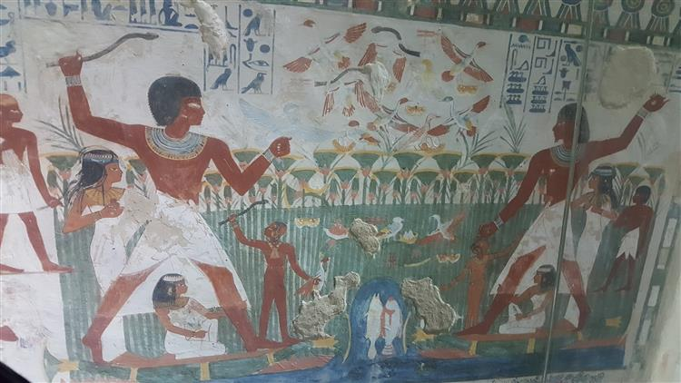 Tomb of Nakht, c.1400 - c.1390 BC - Ancient Egyptian Painting