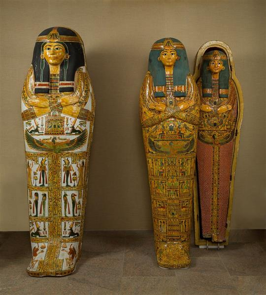 Coffin Set of the Singer of Amun Re, Henettawy, c.1000 - c.945 BC - Ancient Egypt