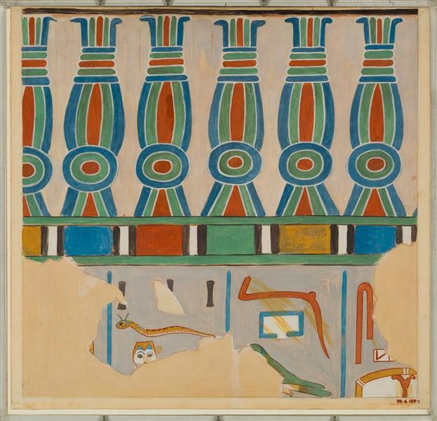 Kheker Friese, Tomb of Tjay, c.1550 - c.1458 BC - Ancient Egypt
