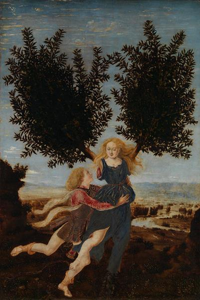 Apollo and Daphne - Antonio del Pollaiolo