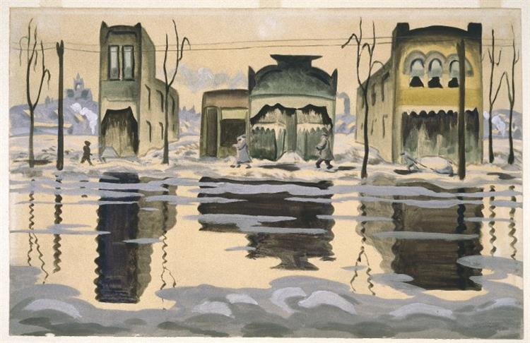 February Thaw - Charles E. Burchfield
