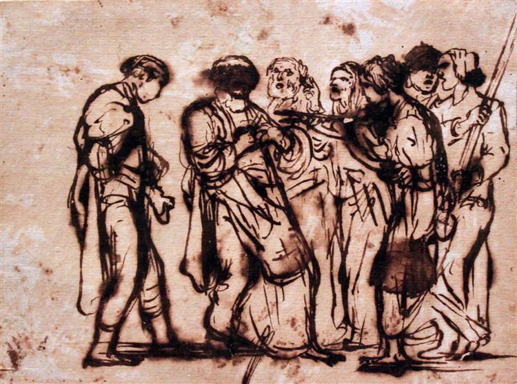 The Denial of Peter, 1605 - Adam Elsheimer