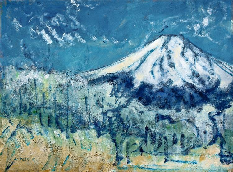 Fuji San at winter, 2000 - Alfred Freddy Krupa